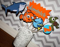 Finding Nemo Birthday Party Decoration Centerpeice by paigerobers Birthday Party Hats, First Birthday Parties, Birthday Party Decorations, Birthday Ideas, 3rd Birthday, Finding Nemo, Etsy, Party Ideas, Baby Shower