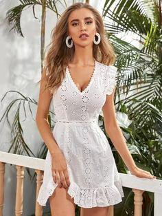 Chic Outfits, Pretty Outfits, Fashion Outfits, Womens Fashion, Boho Dress, Dress P, Wrap Dress, White Dress Summer, Summer Dresses