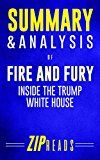 Free Kindle Book -   Summary & Analysis of Fire and Fury: Inside the Trump White House   A Guide to the Book by Michael Wolff