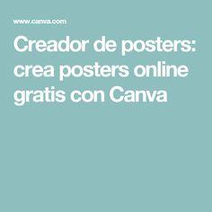 Creador de posters: crea posters online gratis con Canva