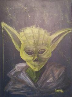 """Yoda"" acrylic on canvas by Shaun Lambert 2014"