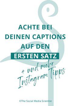 Schreibe den perfekten Instagram Post - The Social Media Scientist Social Media Apps, Social Media Trends, Social Media Marketing, Pinterest Co, Pinterest Profile, Hashtags Instagram, Instagram Posts, Marketing Trends, Entrepreneurship