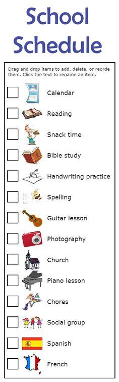kindergarten schedule clipart - photo #35