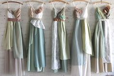 Custom Long Maxi Bridesmaids Dresses van ArmoursansAnguish op etsy