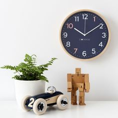 This 'Sailor' clock has a modern, nautical-inspired colour combo of navy, pale blue and orange. It looks great in any room with a touch of navy, perfect in boys bedrooms or play spaces. Boy Room, Kids Room, White Rims, Play Spaces, Telling Time, Simple Nails, Color Combos, Sailor, Wall