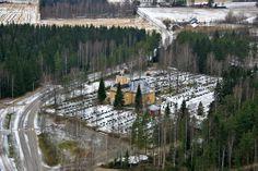 Church and cemetery Karijoki, South Ostrobothnia province of Western Finland. - Etelä-Pohjanmaa.