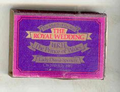 BOX OF MATCHES THE ROYAL WEDDING OF THE PRINCE OF WALES AND LADY DIANA SPENCER in Collectables, Royalty, Princess Diana | eBay