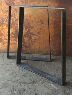 Metal Table Legs  Trapezoid Flat bar by SteelImpression on Etsy