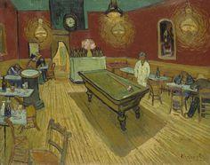 Le Café de nuit, Vincent van Gogh, 1888. Oil on canvas. 72.4 cm × 92.1 cm. Yale University Art Gallery, New Haven.