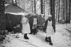 A Soviet Army hospital on the Volkhov  front 1943.