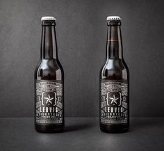 Sleek Typographic Packaging For Beer Company's 10th Anniversary