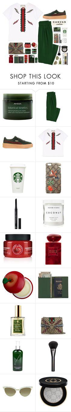 """Paint Your Look With Canvas by Lands' End: Contest Entry"" by luizajarosa ❤ liked on Polyvore featuring Aveda, Canvas by Lands' End, Puma, Gucci, Lands' End, Christian Dior, Herbivore, The Body Shop, Giorgio Armani and Tony Moly"