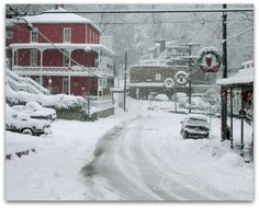 Eureka Springs, AR - Christmas snow storm