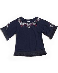 BLAIR EMBROIDERED PONCHO
