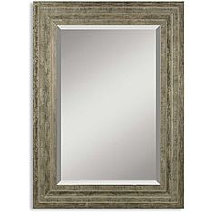Hallmar Distressed Silver Wood Framed Mirror | Overstock.com Shopping - The Best Deals on Mirrors