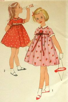 Vintage Girls Party Dress Sewing Pattern I grew up in these dresses...