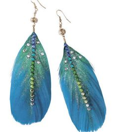 Frilly Feathers Earrings