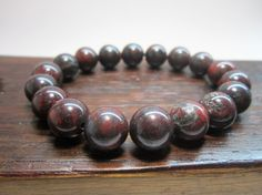 Bloodstone Bracelet, Higher Heart Chakra Bracelet, Bloodstone Purification Bracelet, Bloodstone Healing Bracelet, Yoga Meditation Br