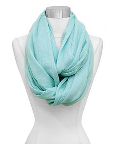 Infinity Scarf in Soft Mint.  47 Different Infinity Scarves from $10.00 | Always Free USA Shipping