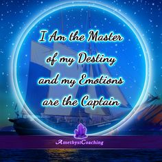 Today's Affirmation: I Am The Master Of My Destiny And My Emotions Are The Captain <3 #affirmation #coaching It is not enough just to repeat words, while repeating the affirmation, feel and believe that the situation is already real. This will put more energy into the affirmation.