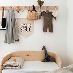 cute baby corner in natural style with lots of wood . cute baby corner in natural style with lots of wood and delicate colors Baby Bedroom, Baby Room Decor, Nursery Room, Boy Room, Girl Nursery, Kids Bedroom, Nursery Decor, Rustic Nursery, Nursery Neutral