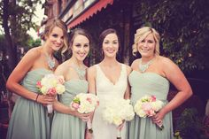Such a beautiful wedding color scheme for a spring or summer wedding! Also love the bridesmaids necklaces! Photo by Ashley B. #MinneapolisWeddingPhotographer