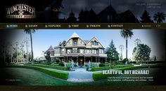 """Winchester Mystery House (San Jose, CA, USA)  """"The Queen Anne Style Victorian mansion is renowned for its size and utter lack of any master building plan. According to popular belief, Sarah Winchester thought the house was haunted by the ghosts of the people who fell victim to Winchester rifles, and that only continuous construction would appease them."""""""