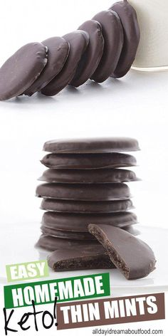 How Long Should You Do Keto Diet #KetoDietFoodPlan Keto Desserts, Keto Snacks, Dessert Recipes, Dessert Healthy, Chocolate Wafers, Chocolate Coating, Mint Chocolate, Thin Mints, Keto Brownies