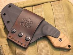 Kydex and leather livin' together....new sheath pics!