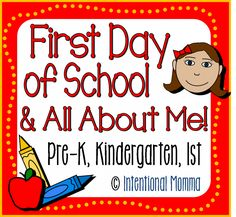 First Day of School and All About Me