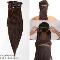 Chocolate Brown Charming Straight Clip In Remy Hair Extensions on BestHairBuy. You can wash, dry, straighten or curl our hair extensions as they are made of real human hair, just like your own hair. Human Hair Clip Ins, Remy Human Hair, Remy Hair, Best Human Hair Extensions, Clip In Hair Extensions, Brown Auburn Hair, Natural Hair Styles, Long Hair Styles, Stylish Hair