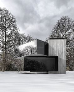 Modern in by Russian architect Alexander Nerovnya Architecture Company, Architecture Magazines, Interior Architecture, Black Architecture, Interior Design, Cabin In The Woods, Container House Plans, Minimalist Architecture, House Blueprints