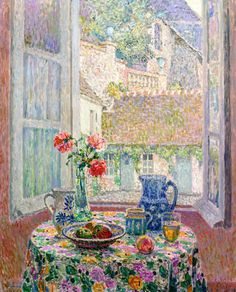 1926.The Table over the Courtyard (Henri Le Sidaner)