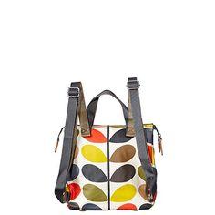 Orla Kiely | UK | Bags | Stem Bags | Classic Multi Stem Small Backpack (0ETCCMS199) | Multi