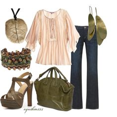 "Hudson Straight Leg Jeans: This outfit has a very ""earthy"" feel to it"