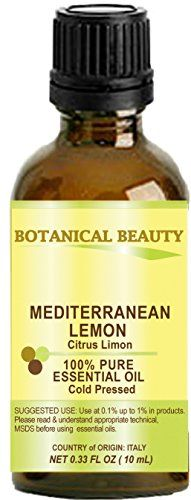 LEMON Mediterranean ESSENTIAL OIL 100 Pure Therapeutic Grade Premium Quality Undiluted 033 Floz 10 ml ** Click image to review more details. (Note:Amazon affiliate link) #FacialSkinCareProducts