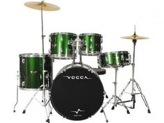 Bateria Acústica Vogga 8 Peças - Vogga Talent VPD924 - Verde