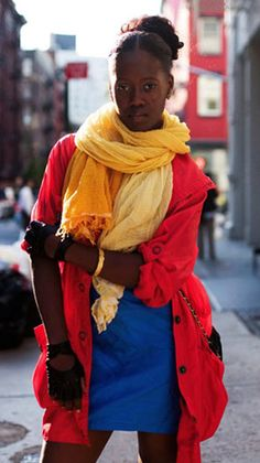 Primary colors outfit. this outfit has red, blue, and yellow the three primary colors.