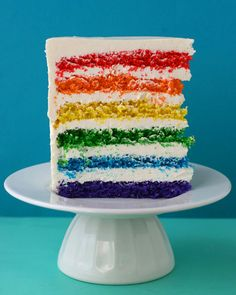 Rainbow cake from Martha Stewart. Isn't it so much fun? :)