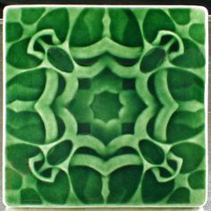 Arts and crafts tile, 6 x 6 tile, art tile, carved tile, handmade tile, accent tile, backsplash tile, fireplace tile by CampbellTileworks on Etsy
