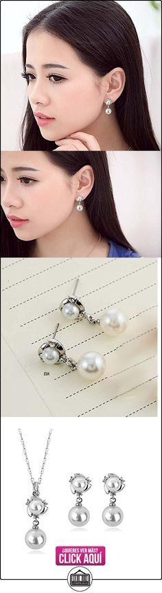 Jewellery Sets Silver Plated Pearl Pendant Necklaces Drop Earrings Cubic Zirconia Diamond For Women  ✿ Joyas para mujer - Las mejores ofertas ✿ ▬► Ver oferta: https://comprar.io/goto/B00LMAZM1Y