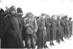 Romanian army POWs captured in Stalingrad, Nov 1942. The Soviets had little sympathy for German allies; they marked the Romanians particularly because of the savageries they had inflicted upon parts of the occupied USSR. Very few of these men returned home from Soviet camps.