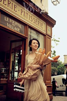 a lovely lady does her morning shopping in Paris.the totaly magic of photographie. Zhang Ziyi, Ville France, Paris Ville, I Love Paris, Oui Oui, Paris Travel, Character Inspiration, At Least, People