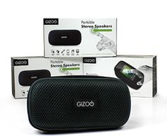 Gizoo Portable Stereo Speakers: Touchscreen Edition