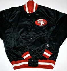 Vintage Authentic San Francisco 49ers Mens Satin Jacket available at VintageMensGoods, $250.00