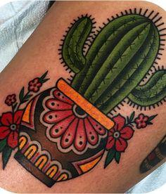 Cactus old school tattoo