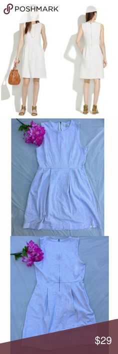 "Madewell Summer Friday dress 10 Fantastic pre-loved condition! Perfect casual summer dress. 100% cotton. Approx 34"" bust, 35"" length, pockets. ✅offers❌trades/PPsave 20% off 2+ Madewell Dresses"