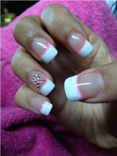This was originally pinned as Neapolitan Ice Cream-Themed Nails... I'm pretty sure it's Breast Cancer Awareness themed... =P
