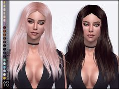 sims 4 cc // custom content hairstyle // the sims resource // Anto - Brielle (Hairstyle) Sims 1, Sims 4 Mods, The Sims 4 Cabelos, Messy Hairstyles, Female Hairstyles, Pelo Sims, Sims 4 Cc Shoes, Sims Hair, The Sims 4 Download