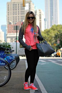 athletic but cute outfit with yoga pants